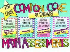 2nd Grade Common Core Math Assessments - ALL STANDARDS BUNDLE from Blair Turner on TeachersNotebook.com (128 pages)  - 2 pages for EACH 2nd grade Common Core math standard!