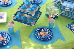 party decoration ideas, baby boy shower, fish, birthdays, baby boys
