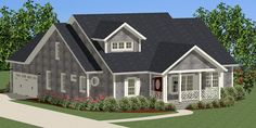 The Guilford Cottage House Plan 9017 is a brand new design still on the drawing board featuring  3 Bedrooms and 2.5 Baths. You can easily customize this new #houseplan and work direct with the designer. To discuss modifications to this home, please call one of our home plan specialist at 866-214-2242. http://www.thehousedesigners.com/plan/guilford-cottage-9017/