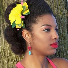 Beautiful pin up natur hairstyl, challenges, roll, challeng 3kala, black hair, makeup, kinky curly hair, hair nation, au naturel