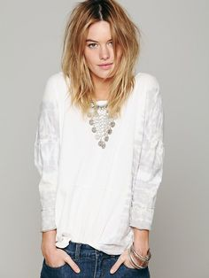 Free People We The Free Aurora Bamboo Wash Tee at Free People Clothing Boutique