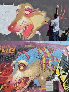 Dope Graff by ARYZ. I saw this is Barcelona!!! It's looks incredible in person!!