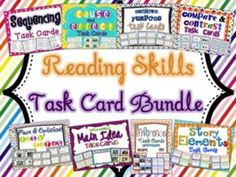 Reading Skills Task Card Bundle *HUGE!* Over 300 Task Cards - Teaching With a Mountain View - TeachersPayTeachers.com