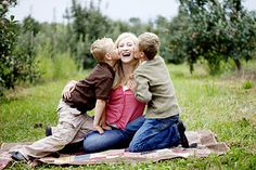 love this shot of mom and kids