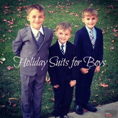 Holiday Suits for Bo