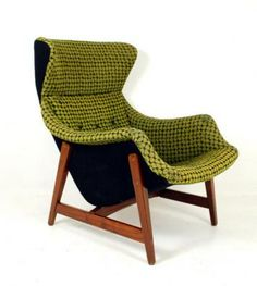 Norwegian 1950's Wingback Chair