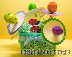 May Day Lollipop Flower Basket from Nothing but Country
