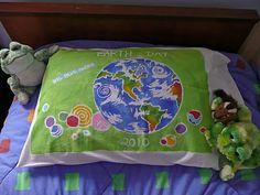 Earth Day Glue Batik