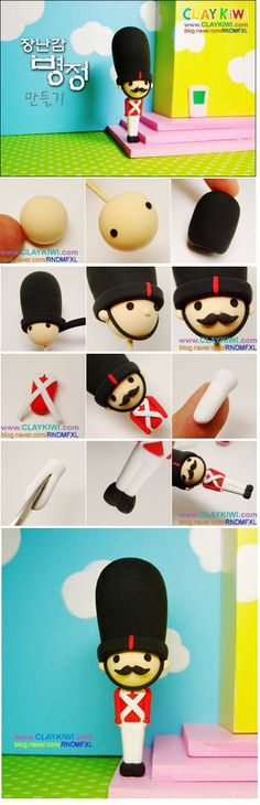 clays, soldier, fimo, messy art, polymer clay projects, polym clay, london guard, teen crafts, clay crafts