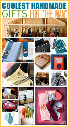 FATHER'S DAY GIFTS : These are the coolest Handmade Gifts for Men... Pin it now and make them later! the36thavenue.com