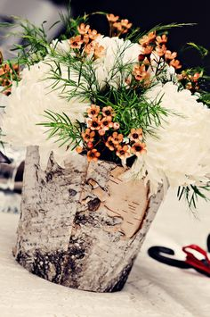 #rustic #orange #centerpieces #wedding