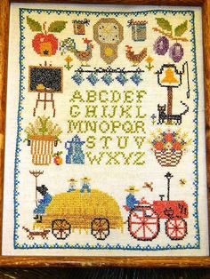 Needle Point Sampler Vintage Country Primitive by TheIDconnection, $110.00