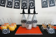 Wicked wine! a Halloween Bar How-To.