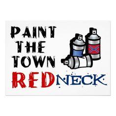 Funny Redneck Party Invite