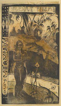 Paul Gauguin: Nave Nave Fenua (Delightful Land): From Noa Noa (Fragrance) (36.6.4) | Heilbrunn Timeline of Art History | The Metropolitan Museum of Art