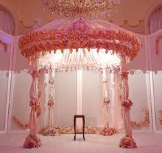 Gorgeous ceremony structure a la Preston Bailey