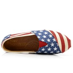 Are your feet feeling patriotic? TOMS shoes. $17