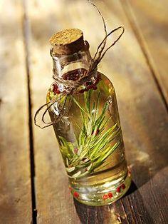 Basil, rosemary, and lemongrass herb oils