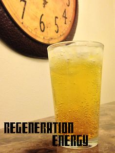 Doctor Who Cocktails: Regeneration Energy | Ingredients: 4 parts Sprite, 4 parts Red Bull, 1 part Pineapple Juice | Directions: Pour all ingredients in a shaker with ice and shake gently. Strain into a tall glass with plenty of ice and serve. Brace yourself for the oncoming storm of regeneration.