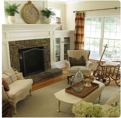 i want this living room. damn shame mine has a window where that fireplace would be...