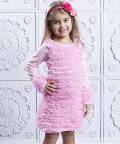Another great find on #zulily! Pink Ruffle Swing Dress - Toddler & Girls #zulilyfinds