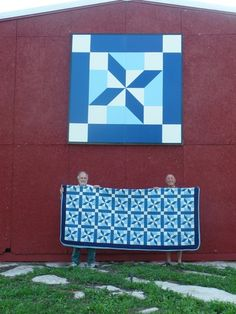 """Clay's Choice,"" the quilt and the barn quilt, Knox, NY, Helderberg Quilt Barn Trail http://www.hqbt.org/"