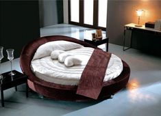 bedroom interior design, design trend, round bed, bedroom idea, bedroom decor
