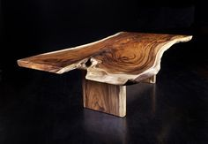 Rustic Live-edge Chamcha Wood Dining Table