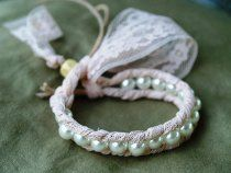 Lace and Pearl Bracelet- delicate and easy to make!