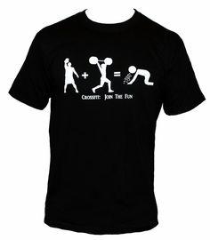 CROSSFIT : Join The Fun Mens t-shirt kettlebell puke cross fit