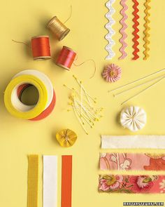 Ribbon & Fabric Flowers~