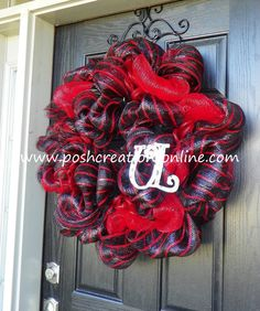 Louisville KY U of L Wreath by poshcreationsKY on Etsy, $69.99