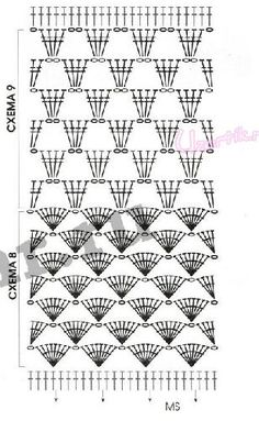 Схема 8 и Схема 9 crochet, схема, proyecto