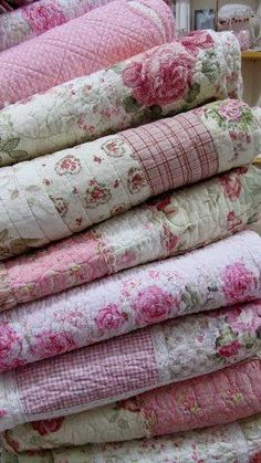 Rosy quilts.