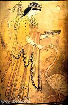 Artemis, goddess of the hunt   Athenian red figure lekythos c. 5th B.C.   State Hermitage Museum, St Petersburg