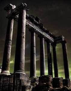 Temple of Saturn, which was also the Treasury of Ancient Rome.