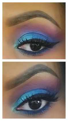 Bright blue and pink #Sephora #Prom #PromBeauty #Makeup #Eyes #TheBeautyBoard