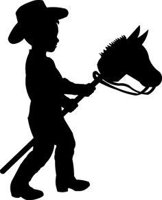 Little cowboy silhouette