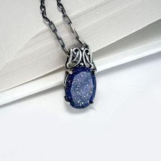 Lapis Lazuli necklace. I love it!