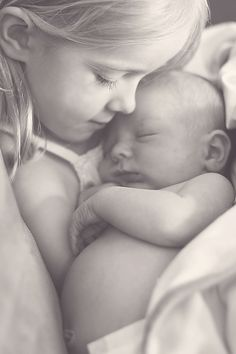 sister and baby.