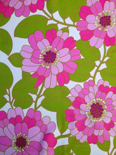 60s vintage mod fabric. Made in Sweden. Cotton satin. High quality fabric, unused.