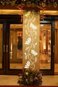 Entrance pillar decor