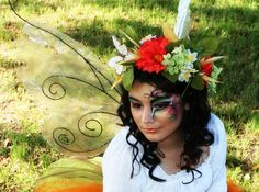 Mother Nature, love the makeup and flowers in her hair is gorgeous