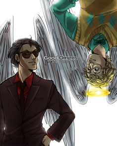 Good Omens by Neil Gaiman and Terry Pratchett (picture by ryounkura on deviantart)