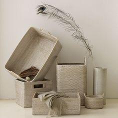 Whitewash Modern Weave Storage Collection | west elm