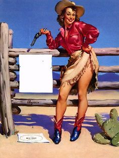 ELVGREN VINTAGE PIN-UP COWGIRL SHARPSHOOTER BEAT THAT on Flickr - Photo Sharing!