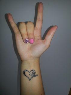 'i love you' sign tattoo