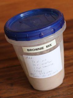 ~homemade brownie mix