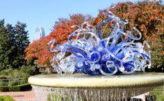 glass art, atlanta botan, botan garden, garden art, fountain