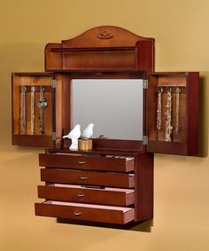 Classic Wall-Mount Jewelry Armoire